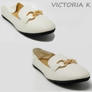 Victoria K Shoes - Women Ballerina Flats / Mules, BS-2626, White